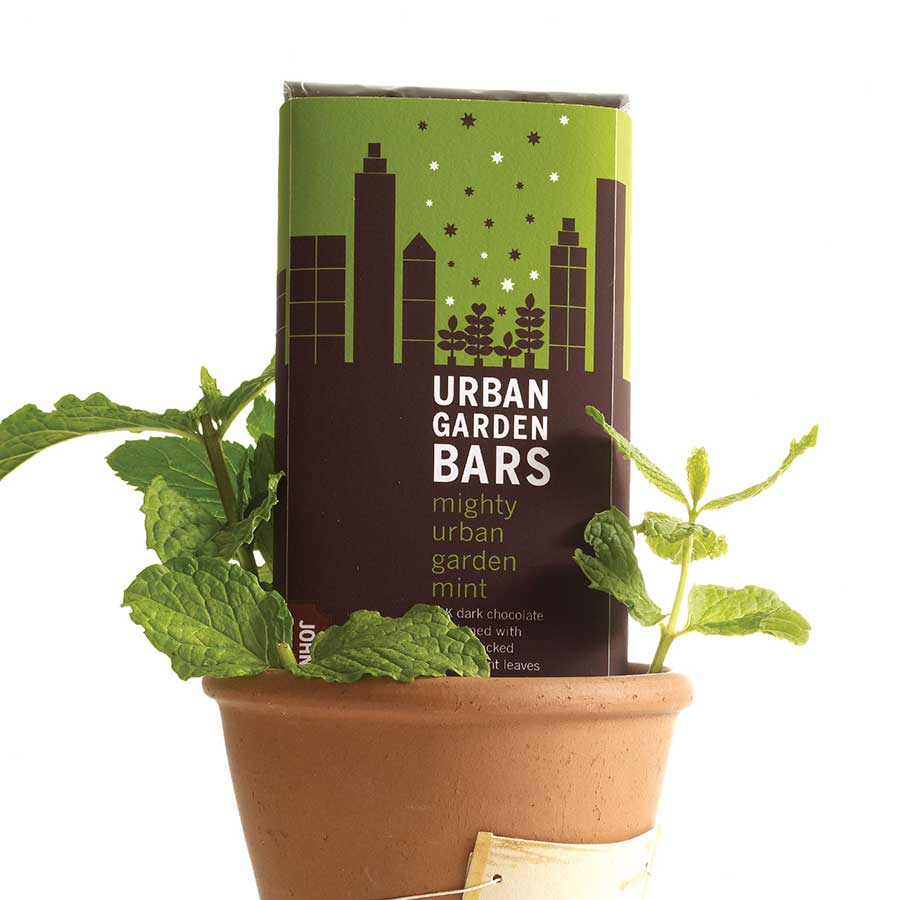 Urban Garden Chocolate Bar - Mint - John and Kira's