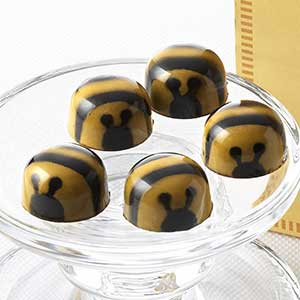 Chocolate Bees on a Plate