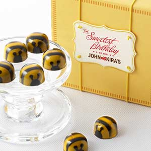 Chocolate Honey Caramel Bees 9pc - Birthday