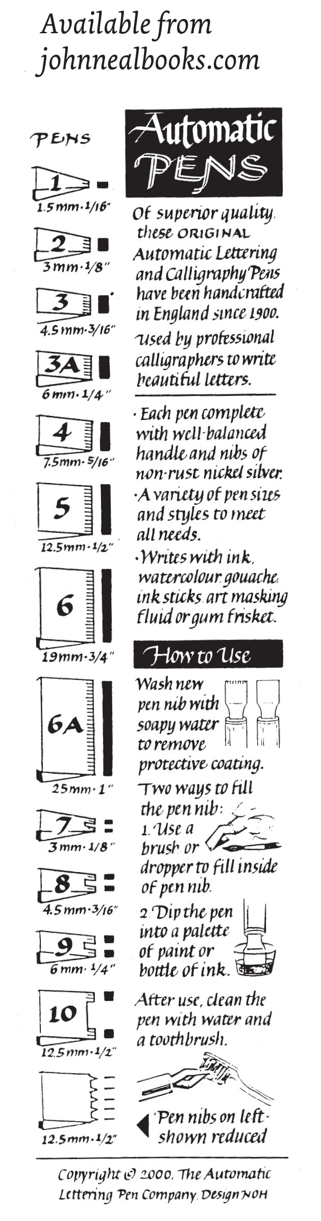 Poster And Specialty Nibs