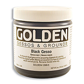 Golden Gesso 8 oz Black