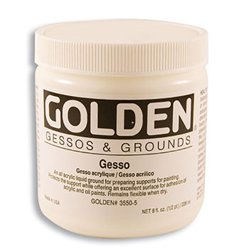 Golden Gesso 8 oz White