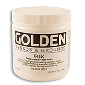 Golden Gesso 8 oz White