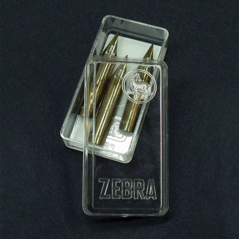 Empty Zebra Nib Box
