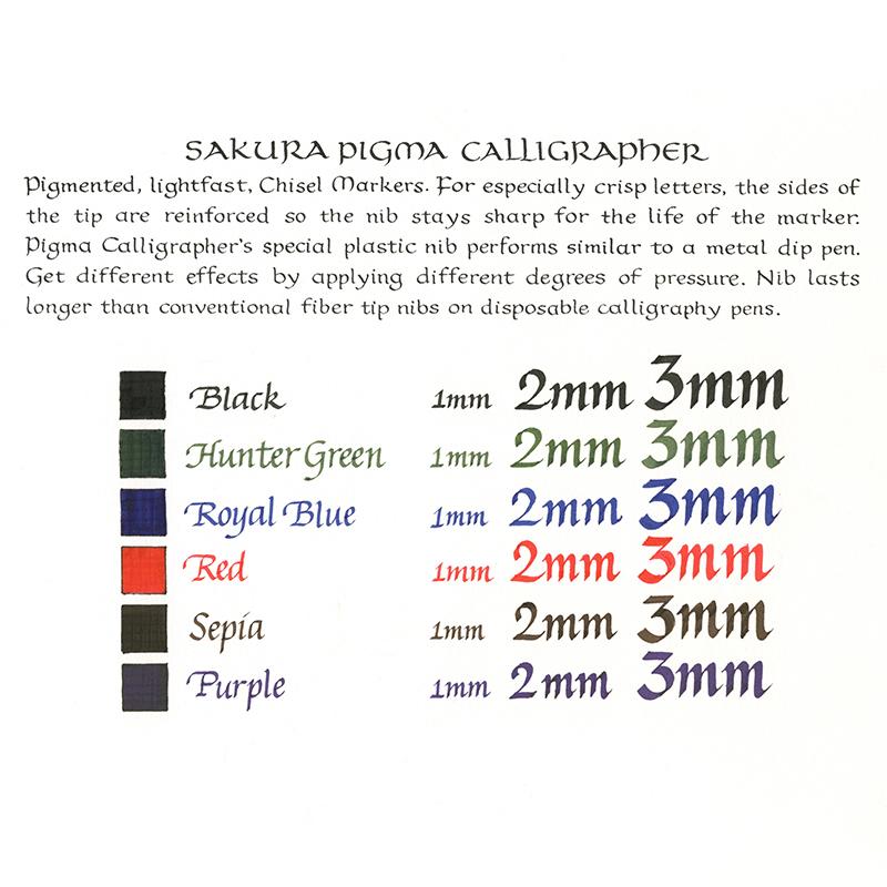 Sakura Pigma Calligrapher