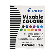 Pilot 12 pk of Cartridge Asst Colors