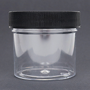 2-ounce Clear Plastic Jar