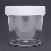 3 ounce Clear Plastic Jar