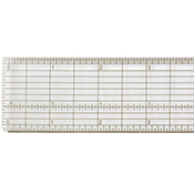 Clear Plastic Grid Ruler with Metal Cutting Edge