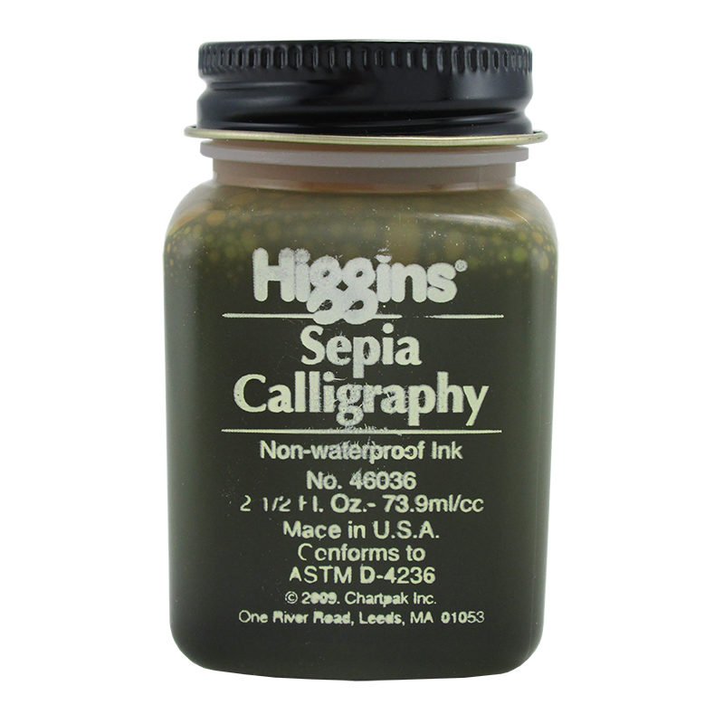 Higgins Sepia Calligraphy Ink