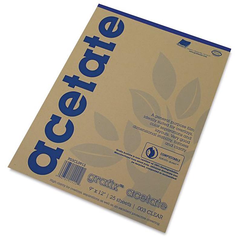 Acetate 9x12  Pad (.003 Clear)