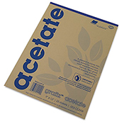 Acetate 9x12  Pad (.003 Clear)