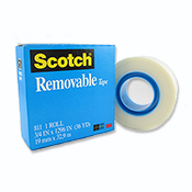 Removable Transparent Tape 3/4x1296in (36 yards)