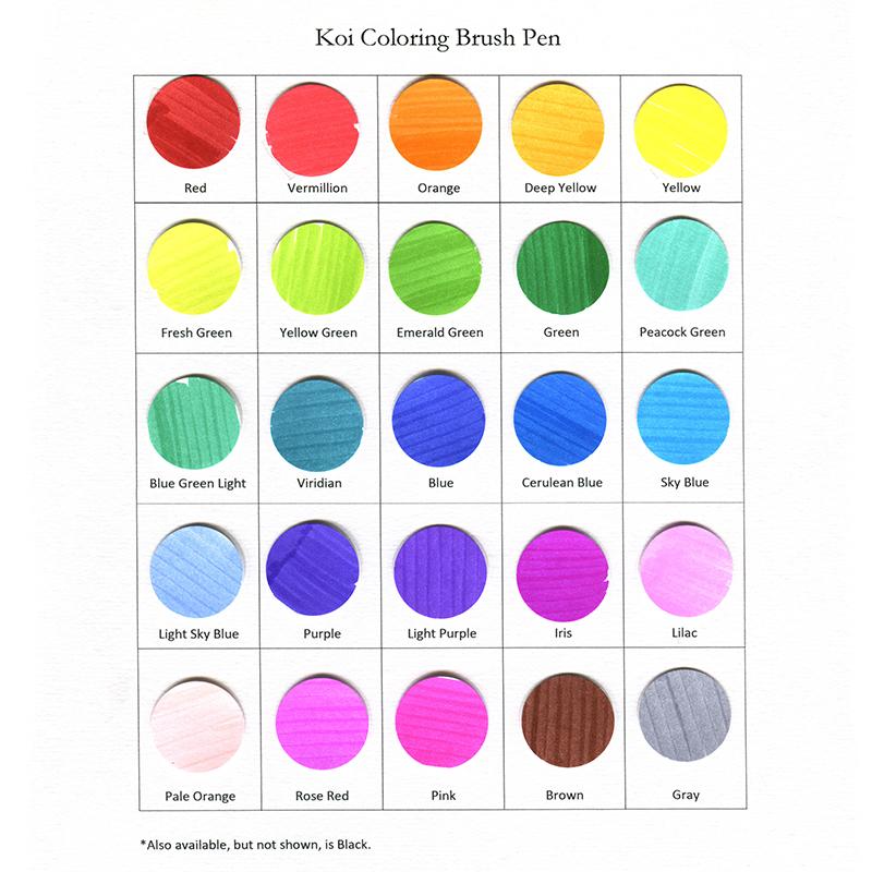 Koi Coloring Brush Pens