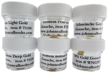 Gold Gouache Sampler
