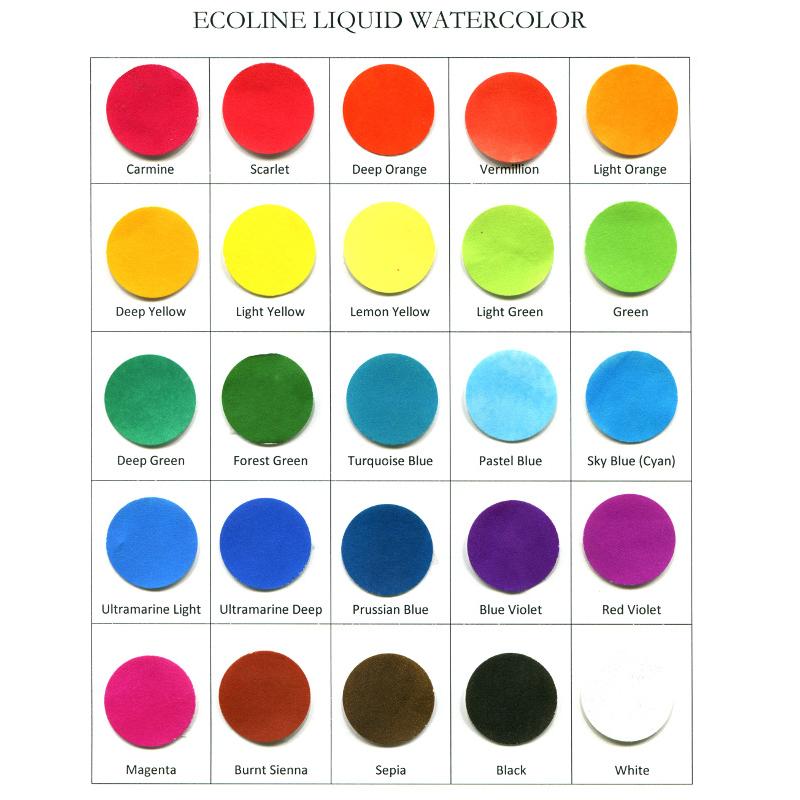Sample Size Ecoline Liquid Watercolor