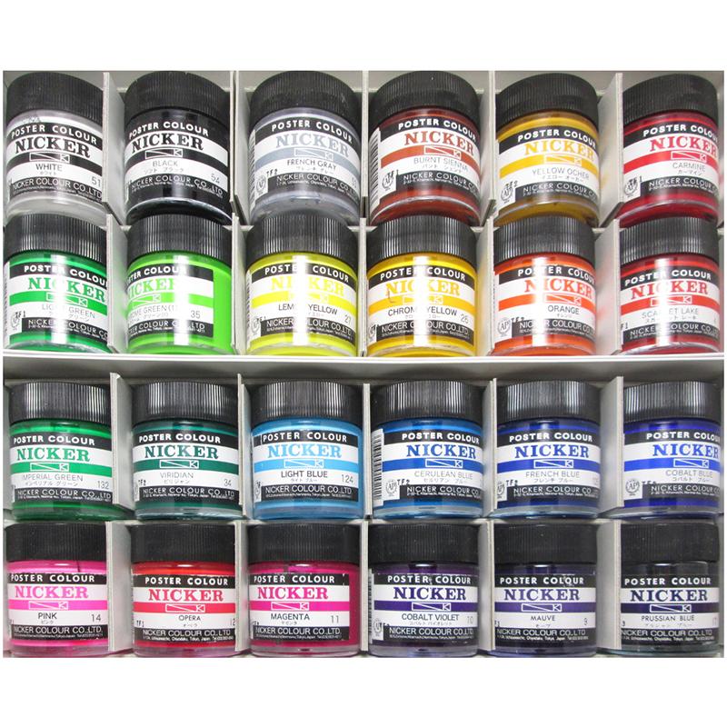 Nicker Poster Color 24-Color Set