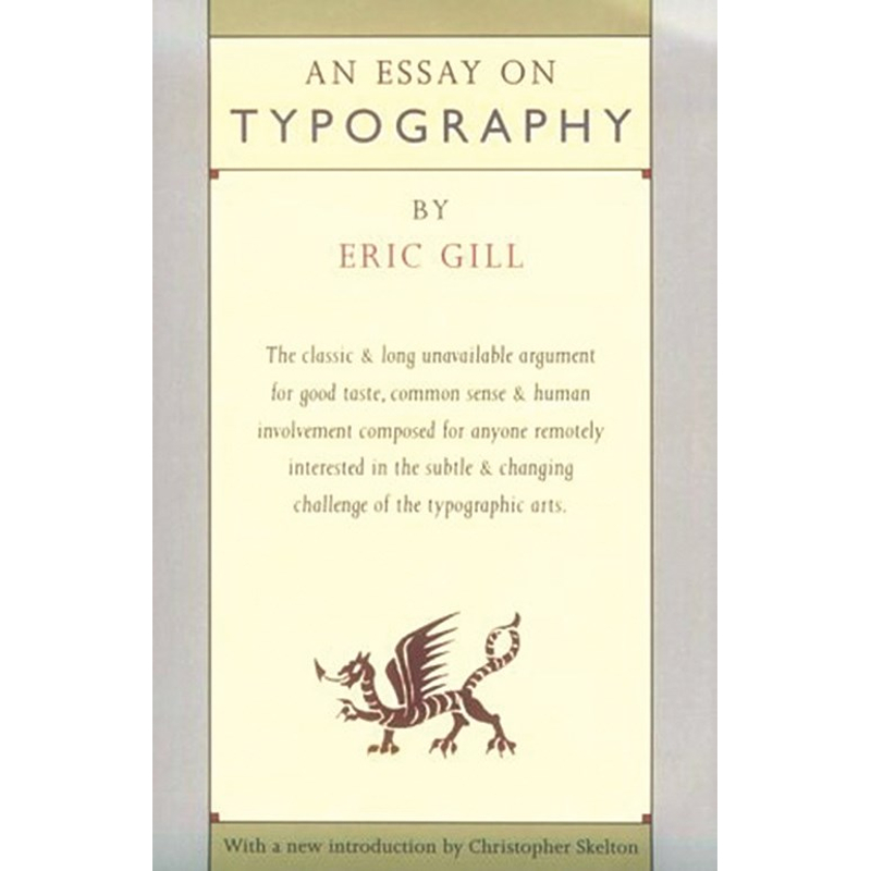 Essay on Typography / Gill