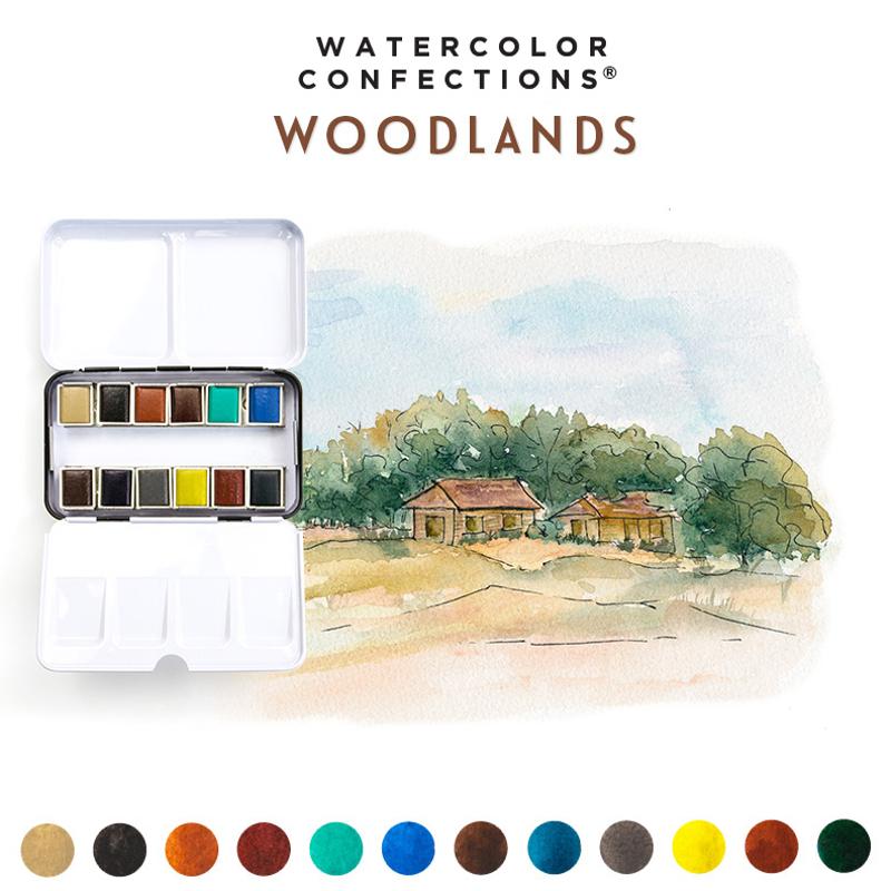 Watercolor Confections: Woodlands