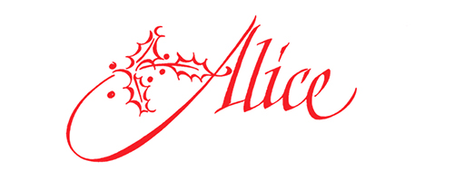 Alice: A Survey of the Calligraphy of Alice