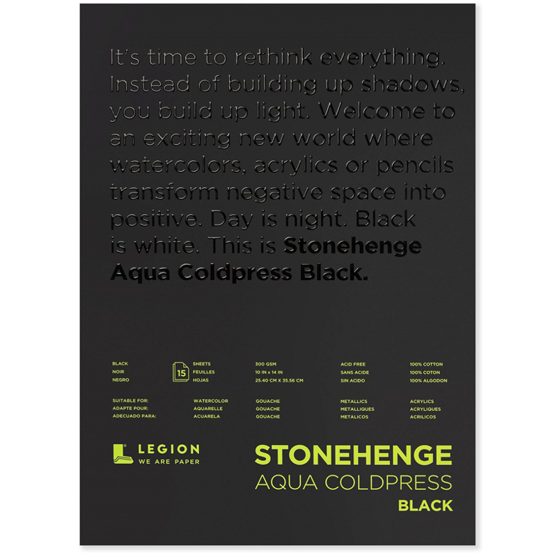 Stonehenge Aqua Black Cold Press Pad
