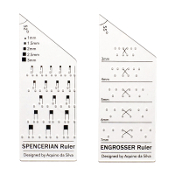 Set of AB Calligraphy Rulers