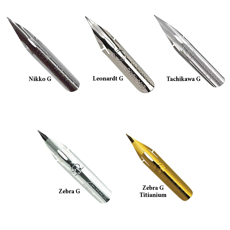 G Pen Nib Sampler