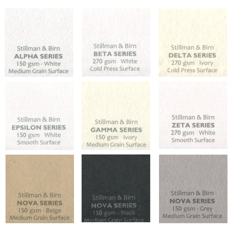 Stillman & Birn Paper Full-Sheet Sample Pack