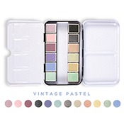 Watercolor Confections: Vintage Pastels