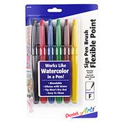 Pentel Sign Pen Brush-Tip Set of 6