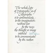 Hermann Zapf Calligraphic Broadside