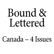 Bound & Lettered 4 Issues Canada
