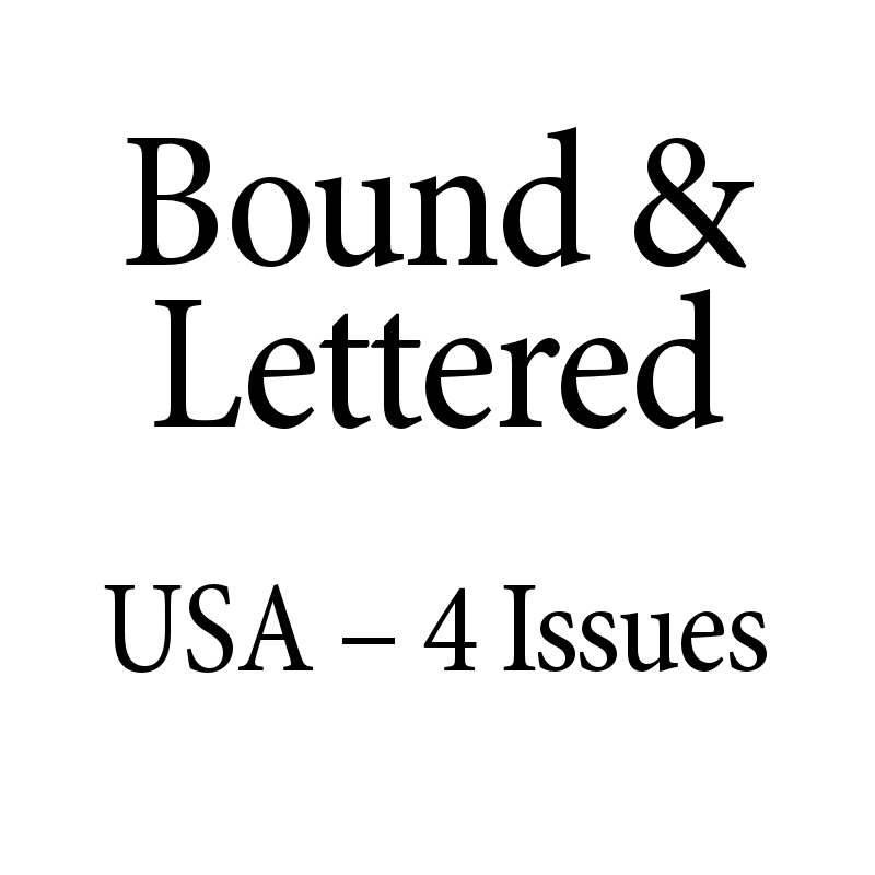 Bound & Lettered 4 Issues Domestic
