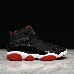 on sale 77b97 82dfd JORDAN 6 RINGS - BLACK   VARSITY RED