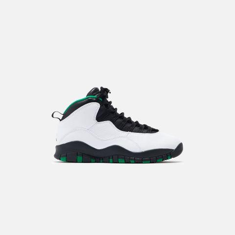 Nike Air Jordan 10 - White / Black / Kelly Green