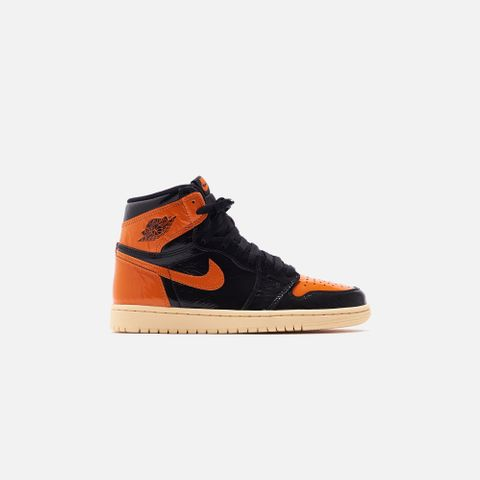 Nike Grade School  Air Jordan 1 Retro High OG - Black / Starfish / Pale Vanilla