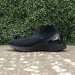 ad7c8bfcb1a Nike Rise React Flyknit (Black Black-White)