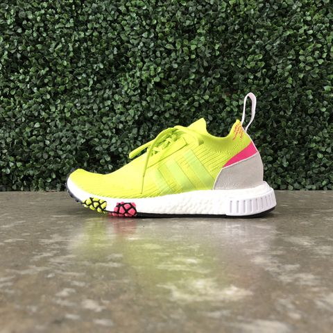 ad86cfaff Adidas Women s NMD Racer Primeknit (Semi Solar Yellow Cloud White)