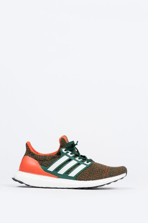 ADIDAS ULTRABOOST DARK GREEN COLLEGIATE ORANGE