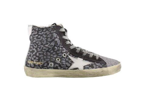 37aff6d4d439 Golden Goose Francy Sneakers Glitter Leopard/White Star Women G32WS591.B16