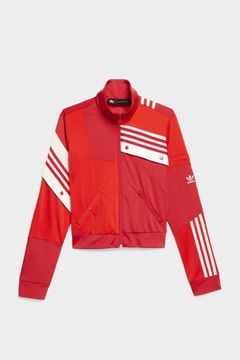 best sneakers 7778e 0a808 DANIELLE CATHARI X ADIDAS COLLECTION DECONSTRUCTED WOMENS TRACK JACKET -  REAL RED WHITE