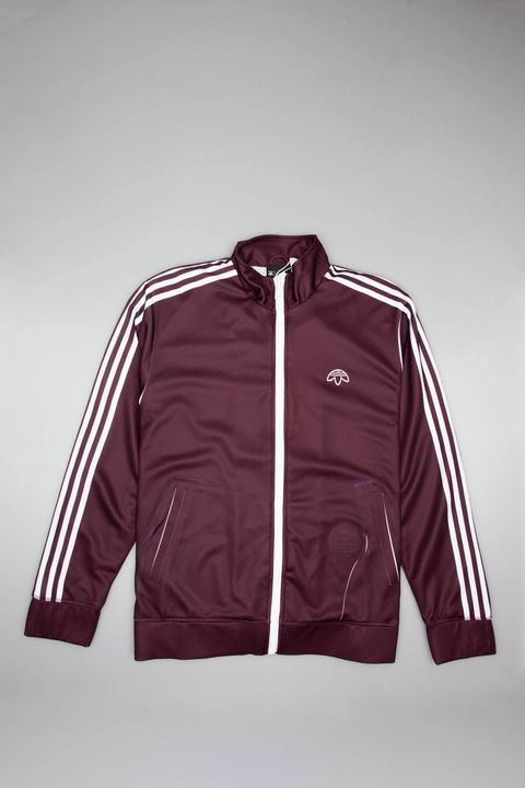 945e00aa4 ADIDAS ORIGINALS BY ALEXANDER WANG MENS TRACK JACKET - BURGUNDY WHITE