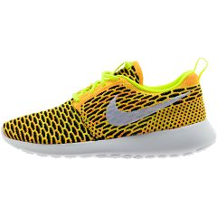 cc65f3d7675b9 NIKE ROSHE FLYKNIT WOMEN S - VOLT WHITE TOTAL ORANGE BLACK