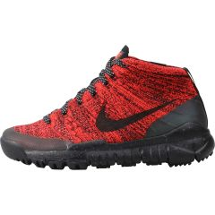 b364f1b715b9 Nike WMNS Flyknit Chukka Sneakerboot - Bright Crimson Sequoia Black