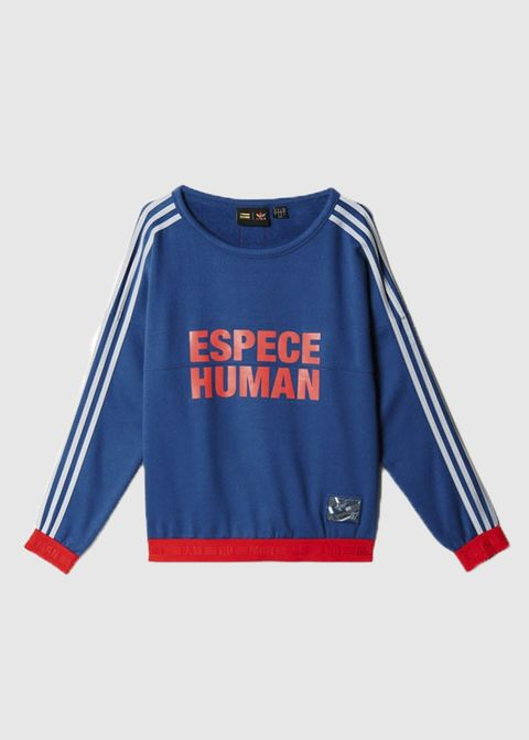 e1f6ef31a098c ADIDAS X PHARRELL WILLIAMS  HU RACE SWEATSHIRT  NIGHT MARINE SCARLET