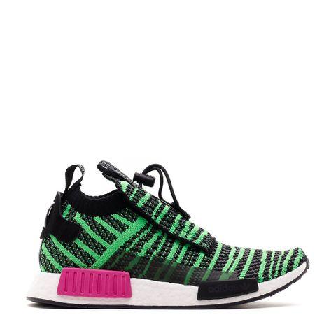 c1b7310c2 Adidas Originals Nmd TS1 PK Primeknit Boost Black Green Pink B37628