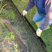 Lawn Edging - Step 2 - Place EverEdge Into Position