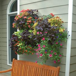"20"" DOUBLE TIER WALL PLANTER & LINER SET"