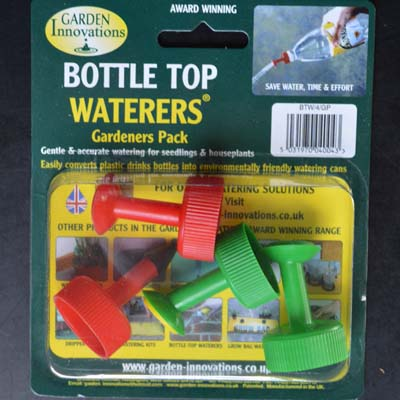Our bottle top waterers will fit any standard screw lid plastic bottle and also come with there own watering flasks if preferred; simple to use around the home or garden.