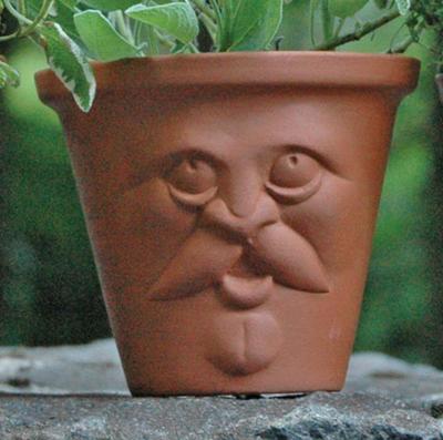Old Man Face Pot